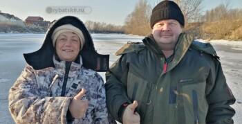 Отчёт о ловле плотвы и окуня на Волге в конце декабря