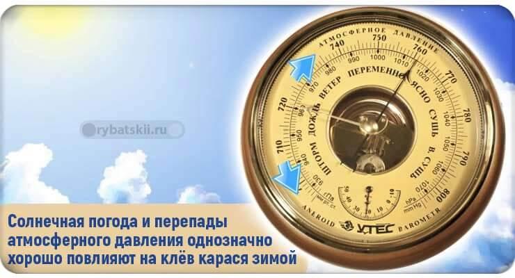 Барометр измеряющий атмосферное давление