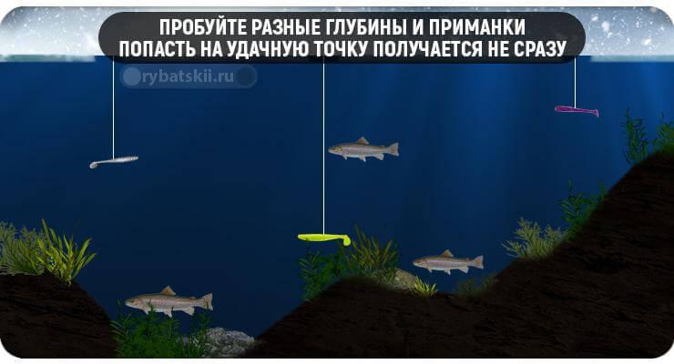 Ловля на разной глубине