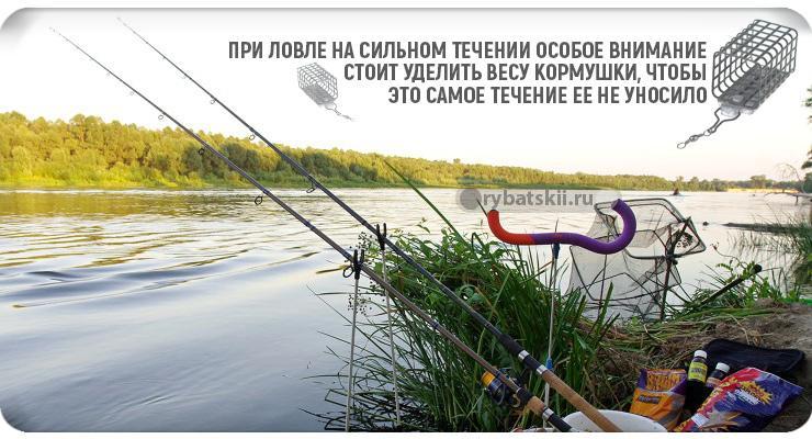 Рыбалка на фидер с берега
