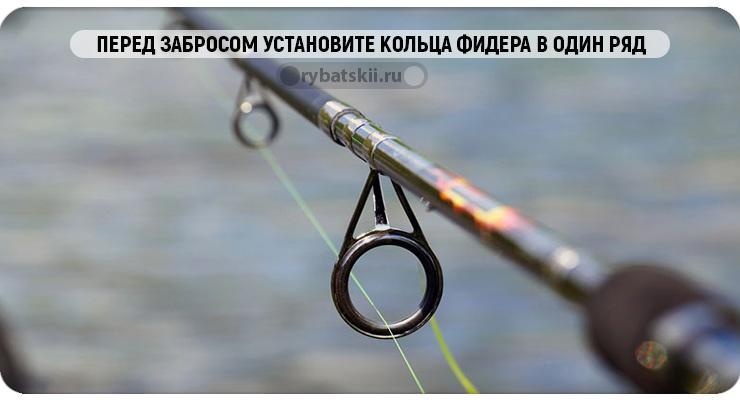 Установка фидера на рыбалке