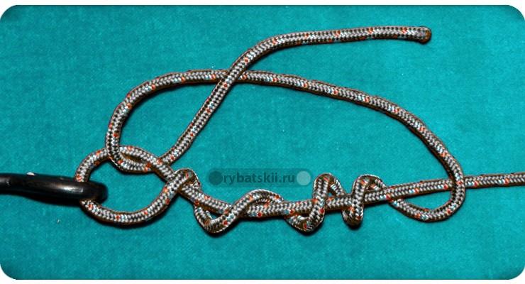 Схема вязания захватного узла