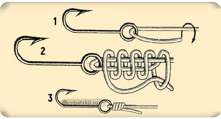 Схема вязания акульего узла