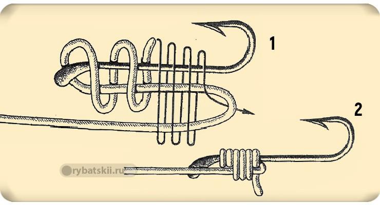 Схема вязания ступенчатого узла