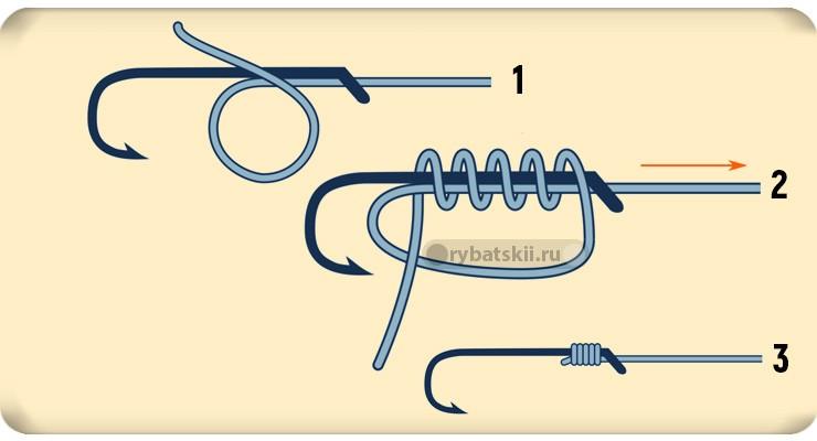 Схема вязания snell knot