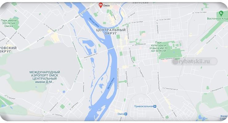 Островки на реке в Омске