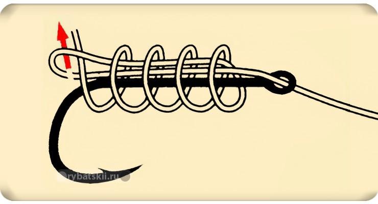 Схема вязания штыкового узла