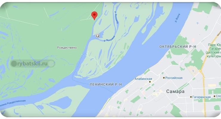 Усинский залив на карте