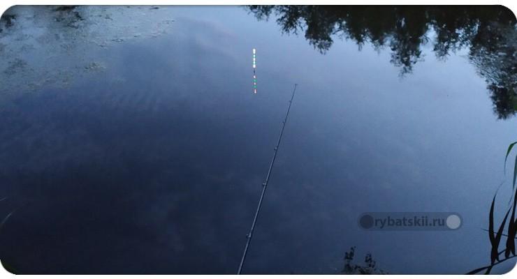 Поплавок со светом в воде