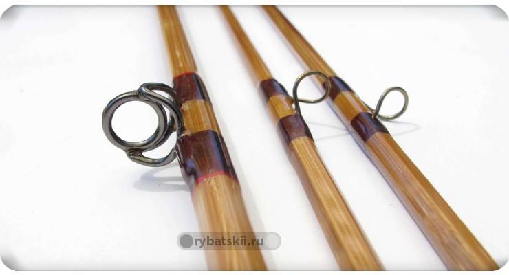 Бамбуковая удочка с кольцами