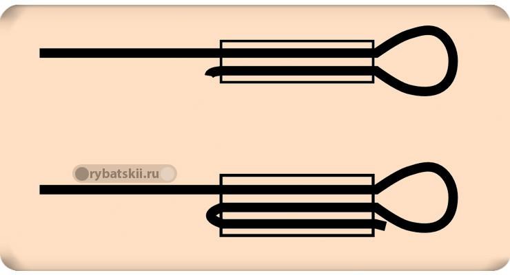Примеры прокладывания лески в трубке