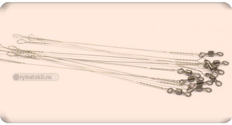 Поводки с вертлюжками