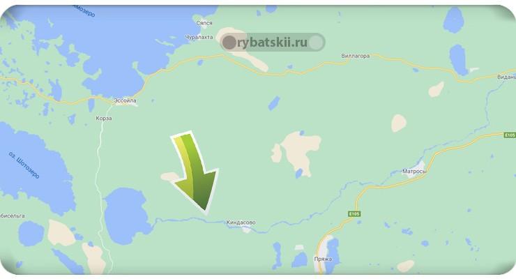 Река Шуя на карте