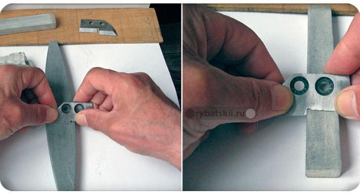 Заточка ступенчатых ножей
