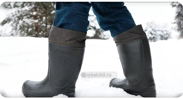 Комфортная обувь на зимней рыбалке